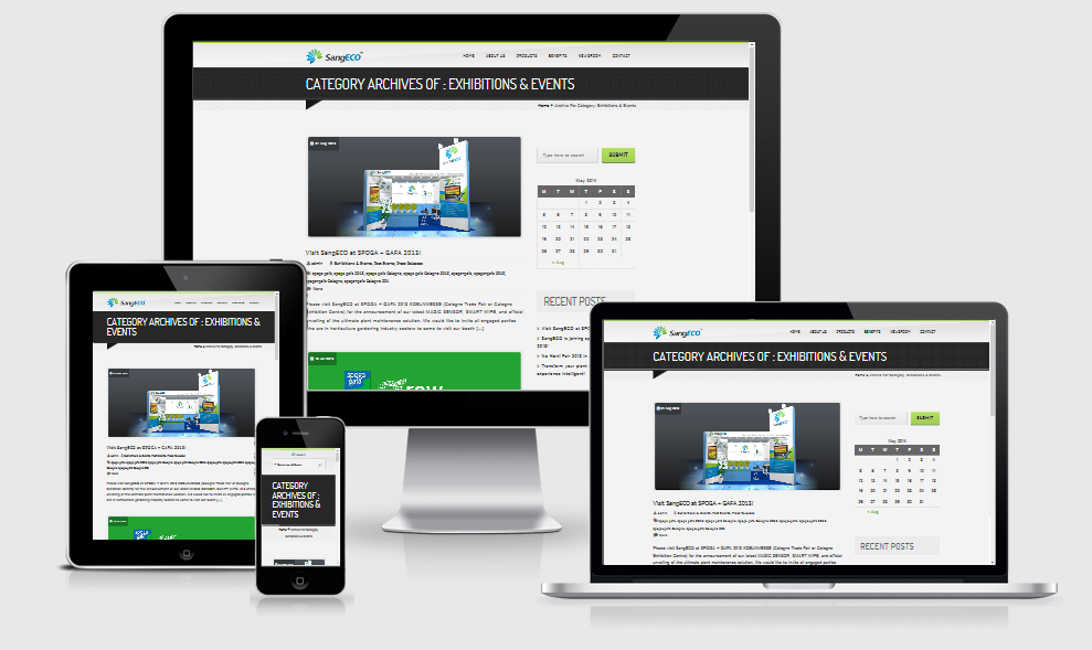 responsive mobile ready website